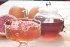 紅茶とグレープフルーツゼリー