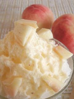 桃かき氷のサムネイル画像