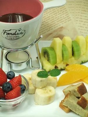 フルーツのチョコフォンデュ