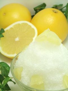 ホワイトグレープフルーツかき氷